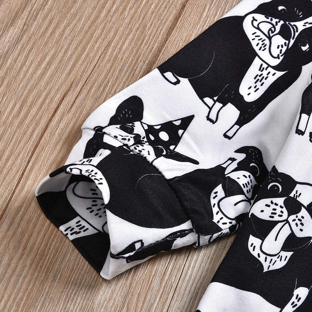 Oliviavane Baby Jungen Bekleidung Kinder Bekleidungssets Kleinkind Baby Kind Jungen Print Hooded Tops Sweatshirt Hosen Set Outfits Kinderbekleidung