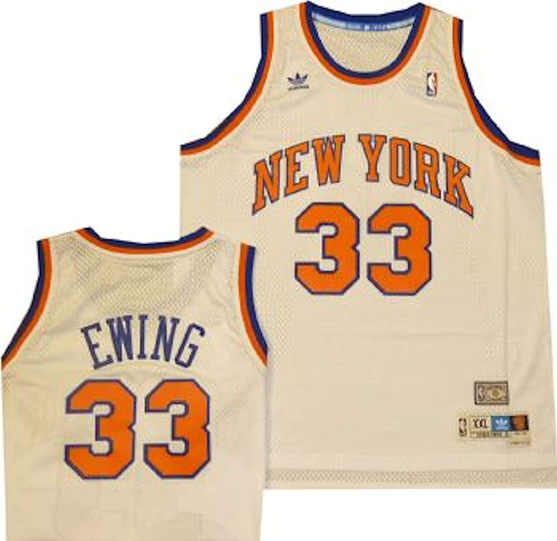 finest selection f64aa f7a2a New York Knicks Patrick Ewing Adidas White Swingman Jersey