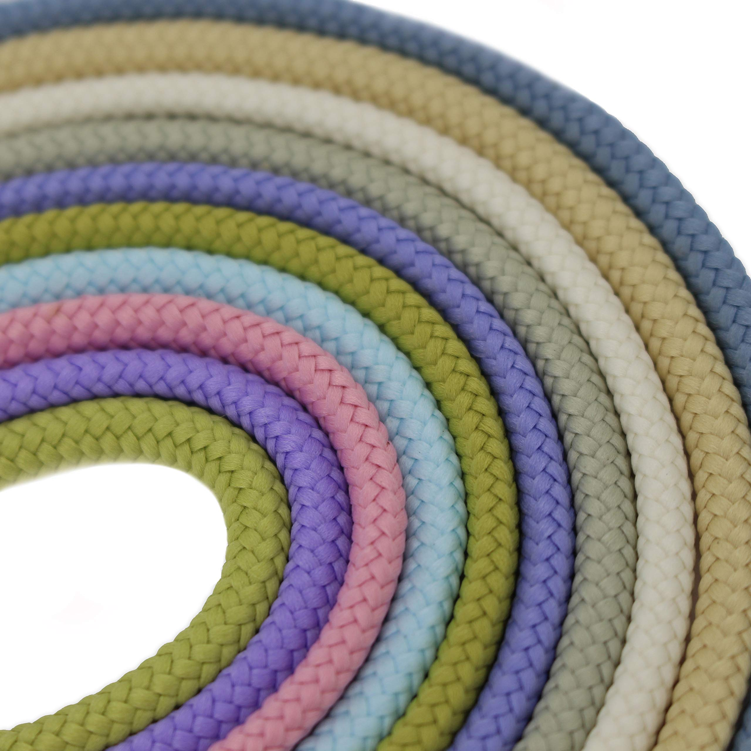 Fincos Cord Strings Rope for Shoes/Luggage/Bag/Case/Garment/Hat/Trousers 10 Colors Mixed 1 Yard Each Or Big Rolls of 100Yards CS-5 - (Color: 301 for 100 Yards) by Fincos (Image #3)