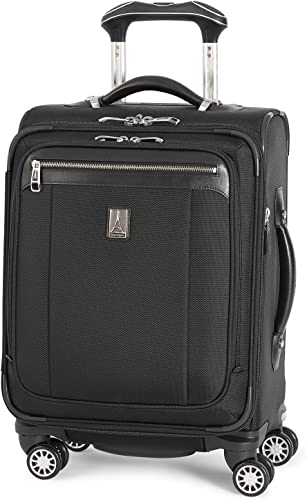 Travelpro Platinum Magna 2-Softside Expandable Spinner Wheel Luggage, Black, Carry-On 19-Inch