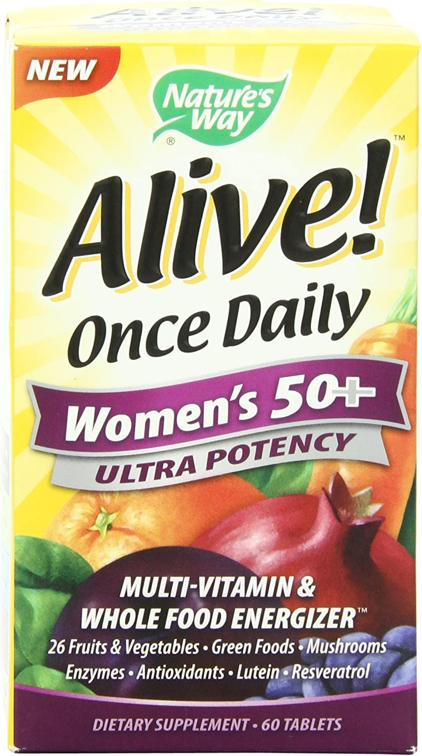 Nature s Way Alive Once Daily Women s 50 Ultra Potency Multivitamin, 60 Tablets , Pack of 4