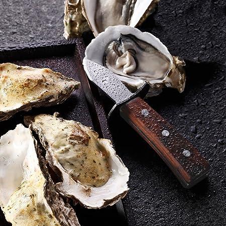 Ein Austernmesser hat eine besondere Form mit kurzer, spitzer Klinge