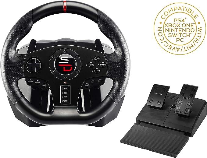 Subsonic Superdrive - volante de carreras SV700 con pedales, palancas de cambio y vibraciones. PS4, Xbox One, Switch, PC, PS3 (compatible con todos los juegos) (PS4): Amazon.es: Videojuegos