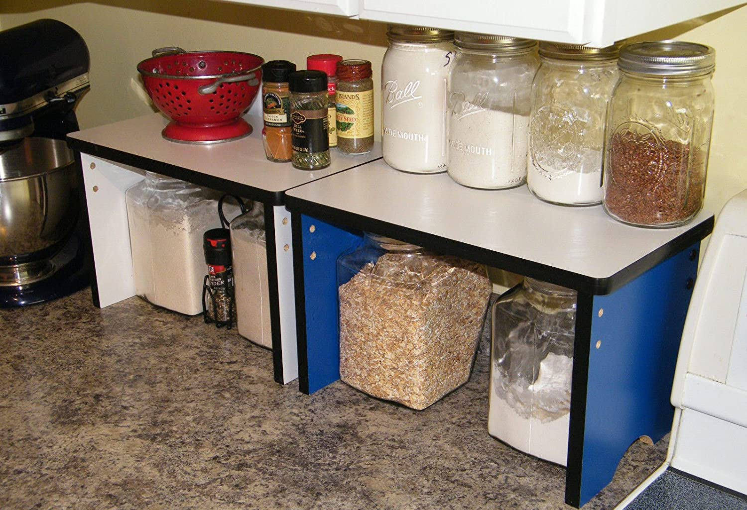 Amazon.com: Kitchen Countertop Small Shelf Space Saver Organizer    Stackable: Kitchen U0026 Dining