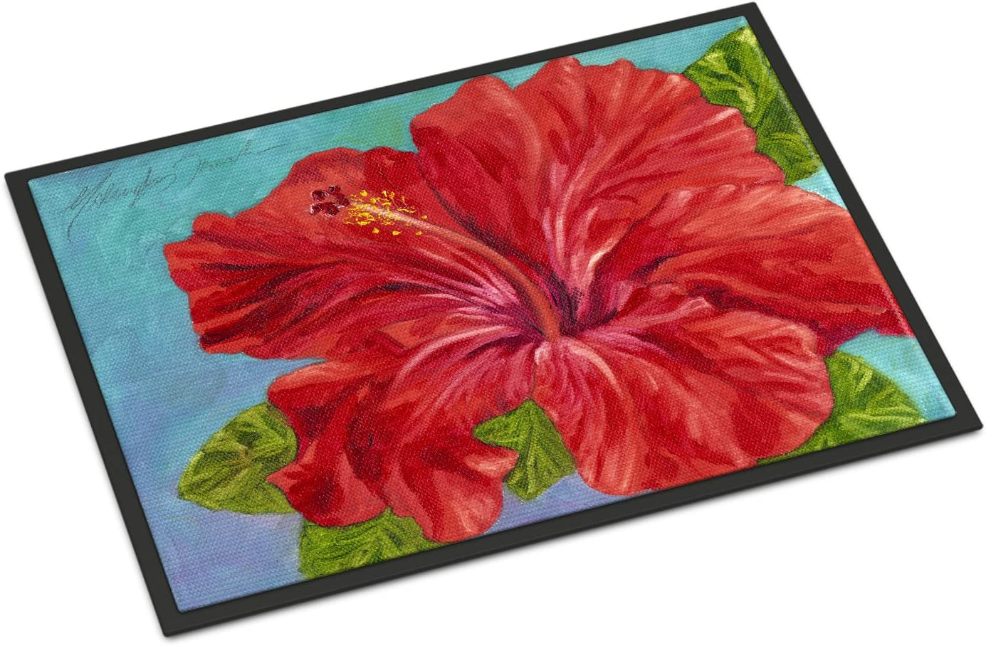 Caroline s Treasures TMTR0319JMAT Red Hibiscus by Malenda Trick Indoor or Outdoor Mat 24×36, 24H X 36W, Multicolor