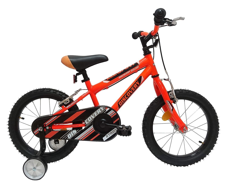 Discovery 16 Kinder Fahrrad, Kinder, Schwarz Orange, Einheitsgröße