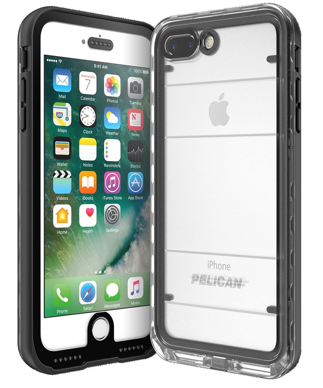 wholesale dealer b44cc 92414 Pelican C24040-001A-BKCL Cell Phone Case for iPhone 7 Plus - Black/Clear