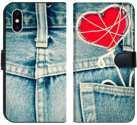 Amazon Com Liili Premium Iphone Xs Flip Micro Fabric Wallet