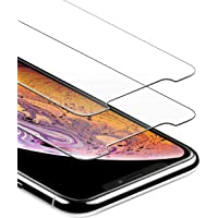 Anker iPhone X / Xs Screen Protector for Apple iPhone X / 10 (2017), iPhone Xs with DoubleDefence Technology, [Case Friendly] [2 PACK] Tempered Glass with Alignment Frame for Apple iPhone 10