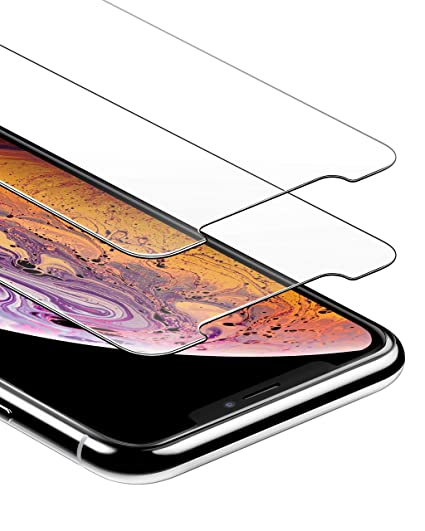 huge selection of 35434 eb62d Anker GlassGuard Screen Protector for iPhone X/iPhone Xs/iPhone 5.8 Inch  with Alignment Frame for Easy, Bubble-Free Installation and DoubleDefence  ...