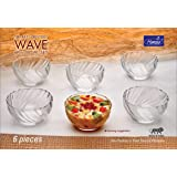 Hansa Wave 10 cm Glass Bowl (Set of 6)