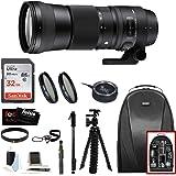 Sigma 150-600mm 5-6.3 Contemporary DG OS HSM Lens for CANON DSLR Cameras 745101 w/USB Dock + 32GB SD Card Advanced Photo & Travel Bundle