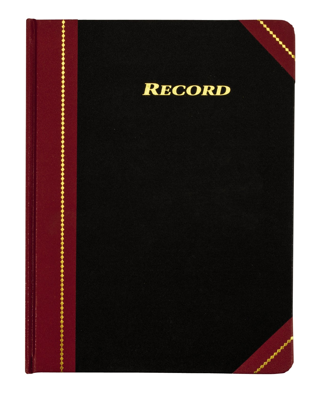 Adams Record Ledger, 8.25 x 10.75 Inches, 5 Squares per Inch, 300 Tinted Pages, Black and Maroon (ARB810R3M) by Adams