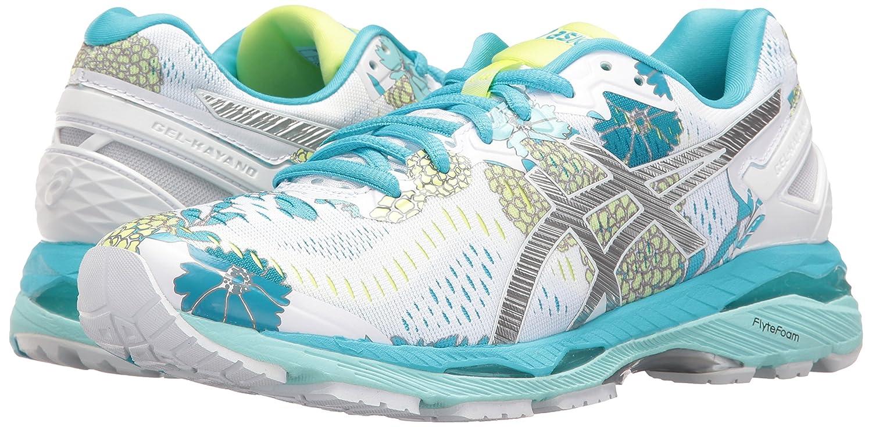 ASICS Women's Gel-Kayano 23 Running Shoe B01GSYVFE6 12 B(M) US|White/Silver/Aquarium