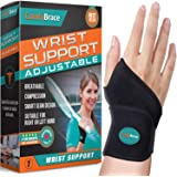 ComfyBrace-Premium Lined Wrist support /Wrist Strap/Carpal Tunnel Wrist Brace/ Arthritis Hand Support -Fits Both Hands-Adjust