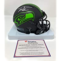 $275 » Russell Wilson Seattle Seahawks Signed Autograph ECLIPSE Speed Mini Helmet Fanatics Authentic Certified