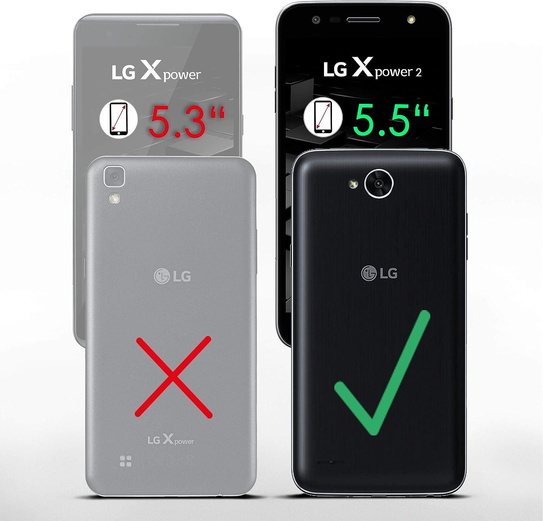 MoEx® Funda Cartera [protección 360°] Compatible con LG X Power 2 ...