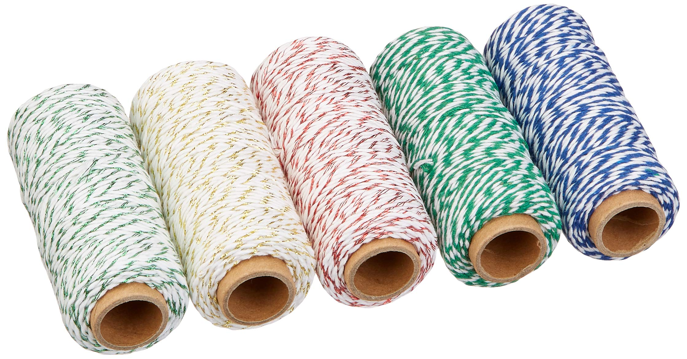 Baker's Twine Metallic Set with Woven-in Gold Filament, 250 Yards Total by K-Kraft