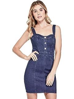 GUESS Factory Womens Kassidy Button Front Denim Dress