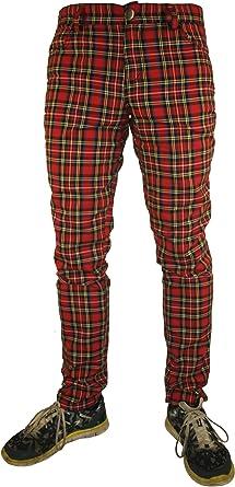 Rock Rag Pantalon Para Hombre Rojo Rojo Amazon Es Ropa Y Accesorios