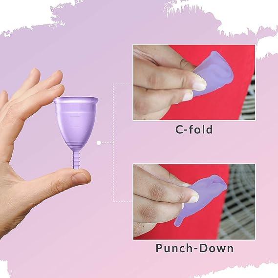 Sirona Reutilizable copa menstrual - de gran tamaño con la bolsa, mini íntimo de lavado 15 ml y 15 ml Copa de lavado | Copa ultra suave Período Hecho ...