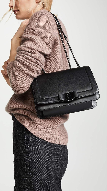 Salvatore Ferragamo Women's Vara Rainbow Bag, Nero, Black, One ...