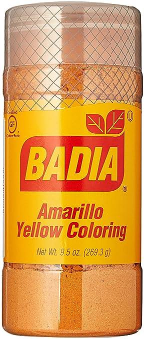 Amazon.com : Badia Yellow Coloring/Amarillo (economy) 9.5 oz Pack of ...