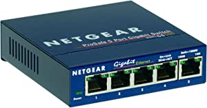 Netgear 5 x Gigabit Ethernet Ports Fast Auto Switching Connection, GS105AU,Blue