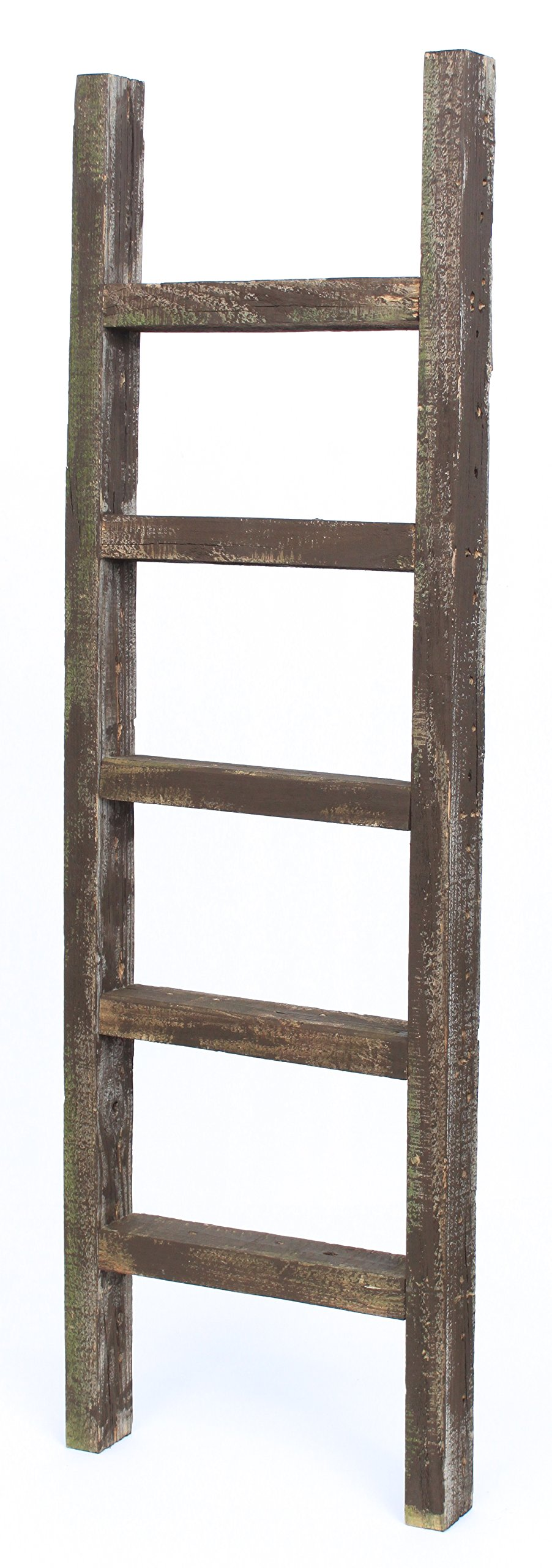 BarnwoodUSA Rustic Farmhouse Decorative Ladder - Our 4ft 2x3 Ladder can be Mounted Horizontally or Vertically | Crafted From 100% Recycled and Reclaimed Wood | No Assembly Required | Brown
