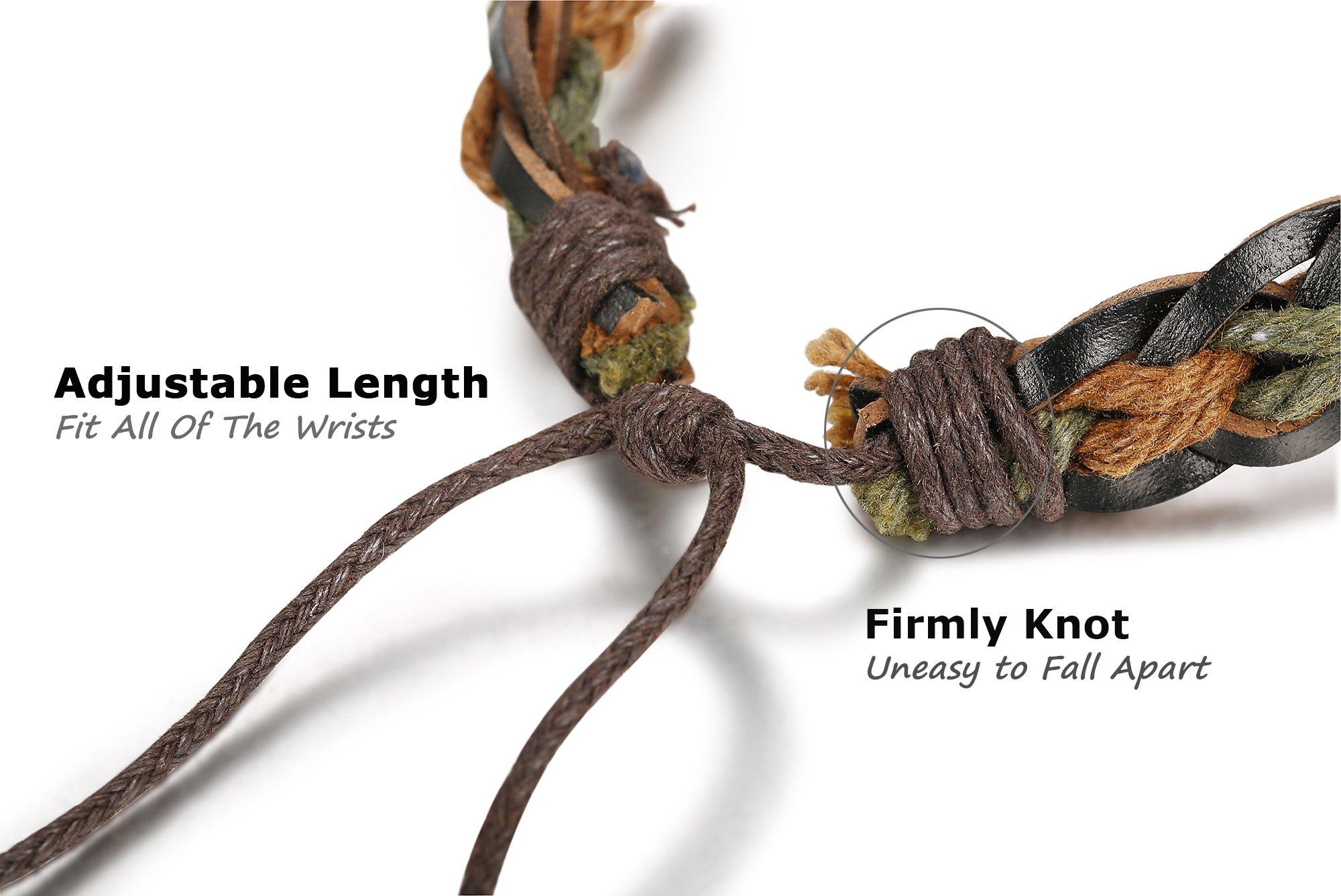 Jstyle 6-12Pcs Wrap Bracelets for Women Men Hemp Cords Ethnic Tribal Bracelet Wooden Beads Leather Bracelets Wristbands by Jstyle (Image #4)