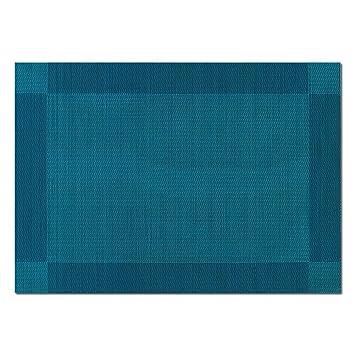 4 X Set De Table Frame Bleu Petrole 45 X 32 Cm Dessous De