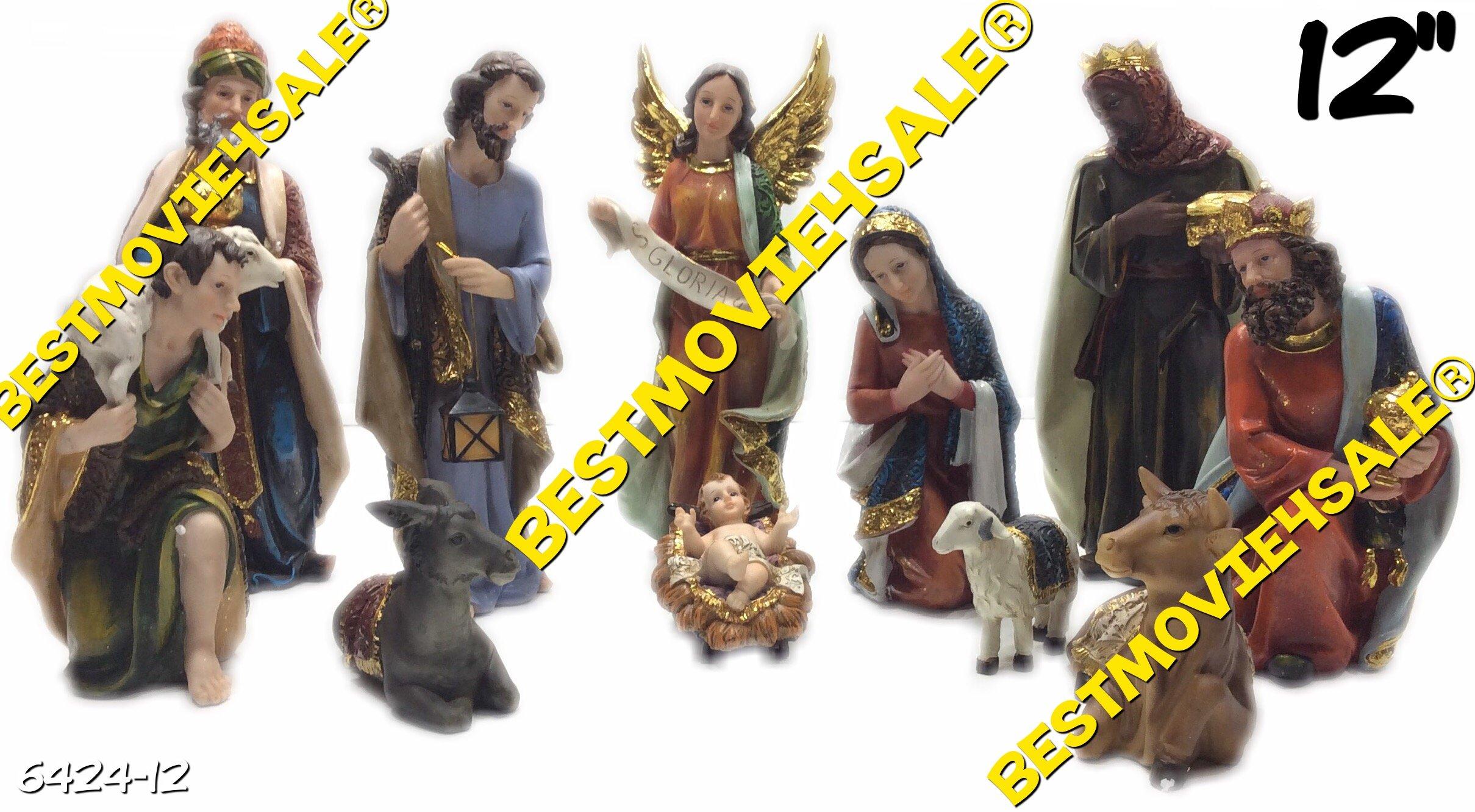 12 Inch Christmas Nativity Complete Set/11 Pieces -Nacimiento Navideno 11pcs New