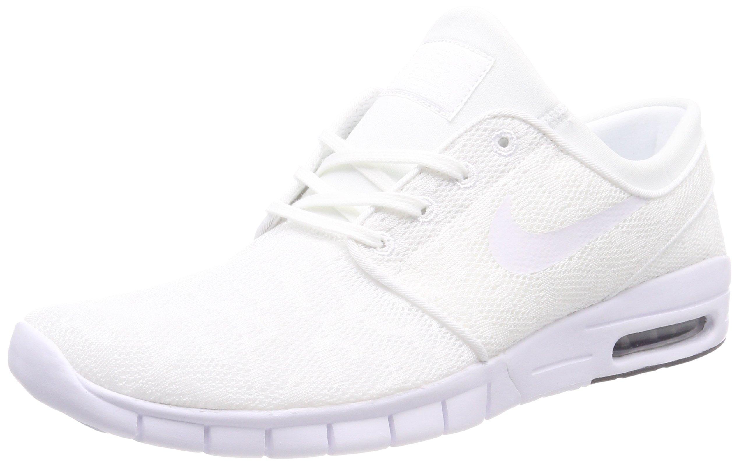 97fd7a1569bb Galleon - Nike Men s Stefan Janoski Max White White-obsidian Sneakers - 7  D(M) US