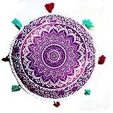 VJGOAL Large Mandala Floor Pillows Round Bohemia impresión ...