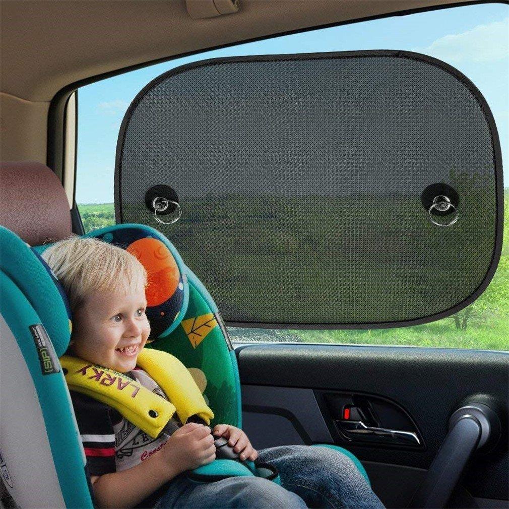 36cm,Parasol Coche Bebe Paquete de 2 ventanas laterales para el coche Sombrillas Beb/é universal Cortinas para el sol Bloqueos nocivos Rayos UV Calor del sol para ni/ños Beb/é Mascotas 44cm
