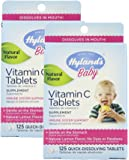 Hylands Baby Vitamin C 125 Piece Tablets, 2 Count