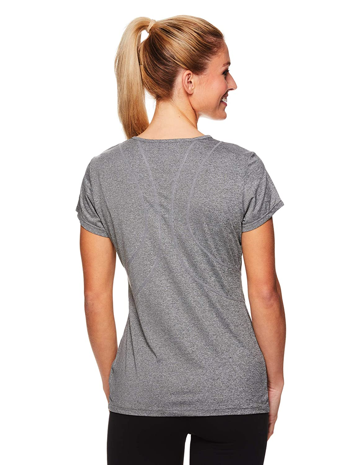 c49c2d4c Amazon.com: Reebok Women's Dynamic Fitted Performance Short Sleeve T-Shirt:  Clothing