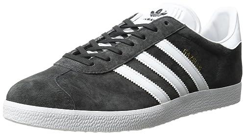 buy popular 1cbaf 0ecc9 Adidas Gazelle Zapatillas Casuales para Hombre, Gris Oscuro  Plateado Blanco metálico Dorado