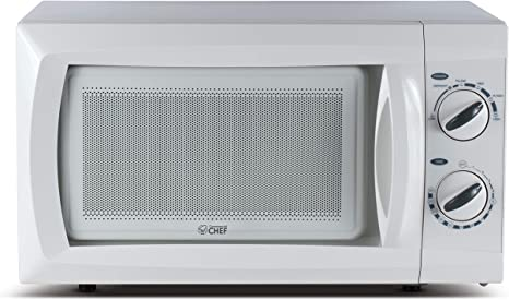 Amazon Com Commercial Chef Countertop Small Microwave Oven 9 5 Inch White Compact Ovens Kitchen Dining