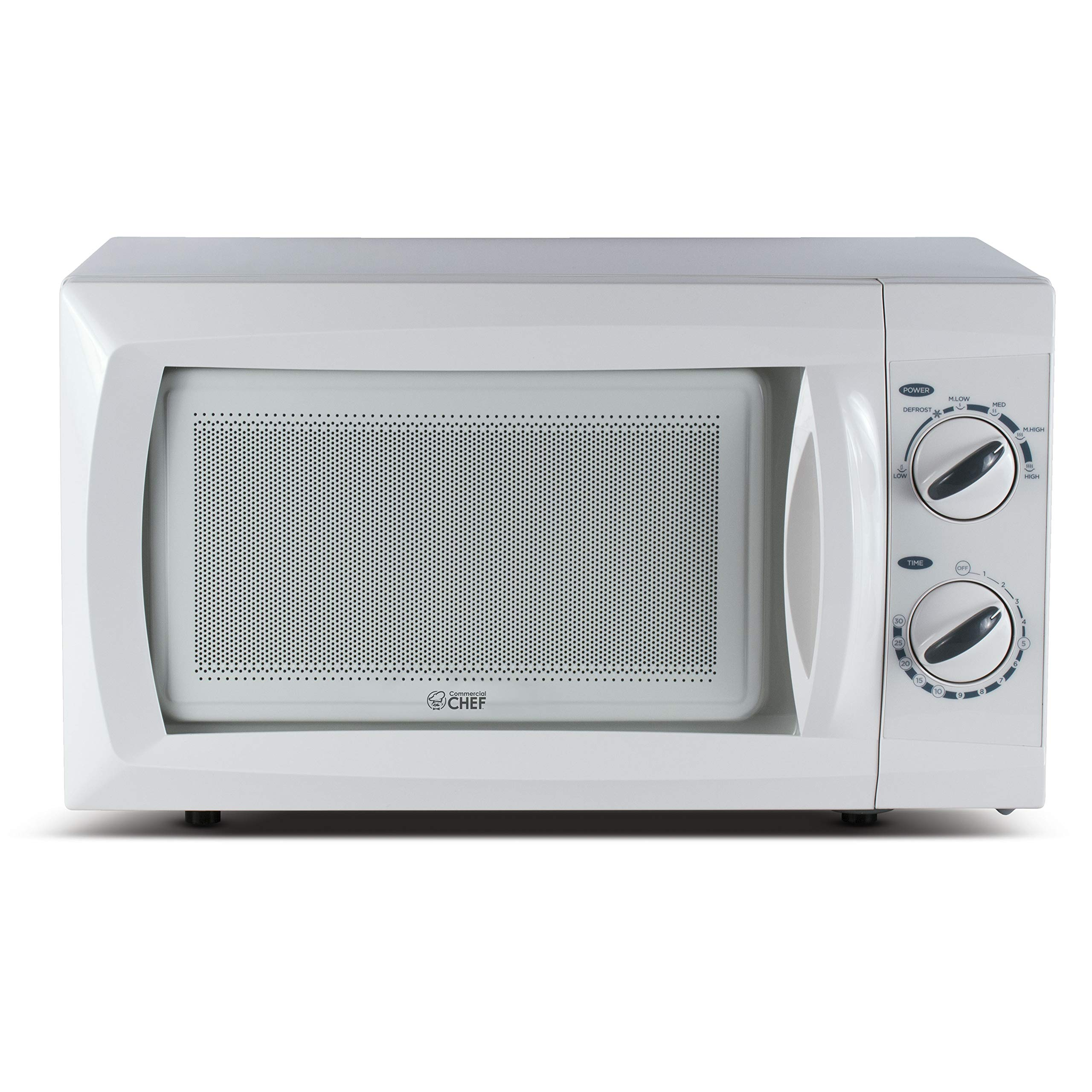 Commercial Chef Counter Top Rotary Microwave Oven 0.6 Cubic Feet, 600 Watt, White, CHM660W by Commercial Chef