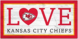 Fan Creations NFL Kansas City Chiefs Unisex Kansas City Chiefs Love Sign, Team Color, 6 x 12 (N1066-KCC)
