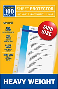 Mini Sheet Protectors Small Paper Top Loading Poly Image Document Office New
