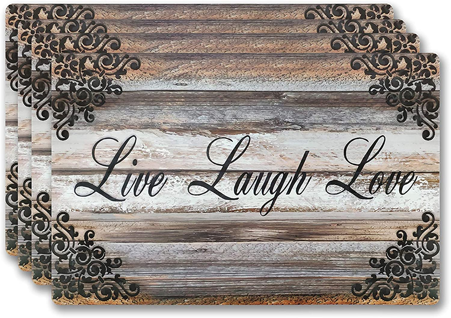 Popular Home Placements Set of 4, Live Laugh Love