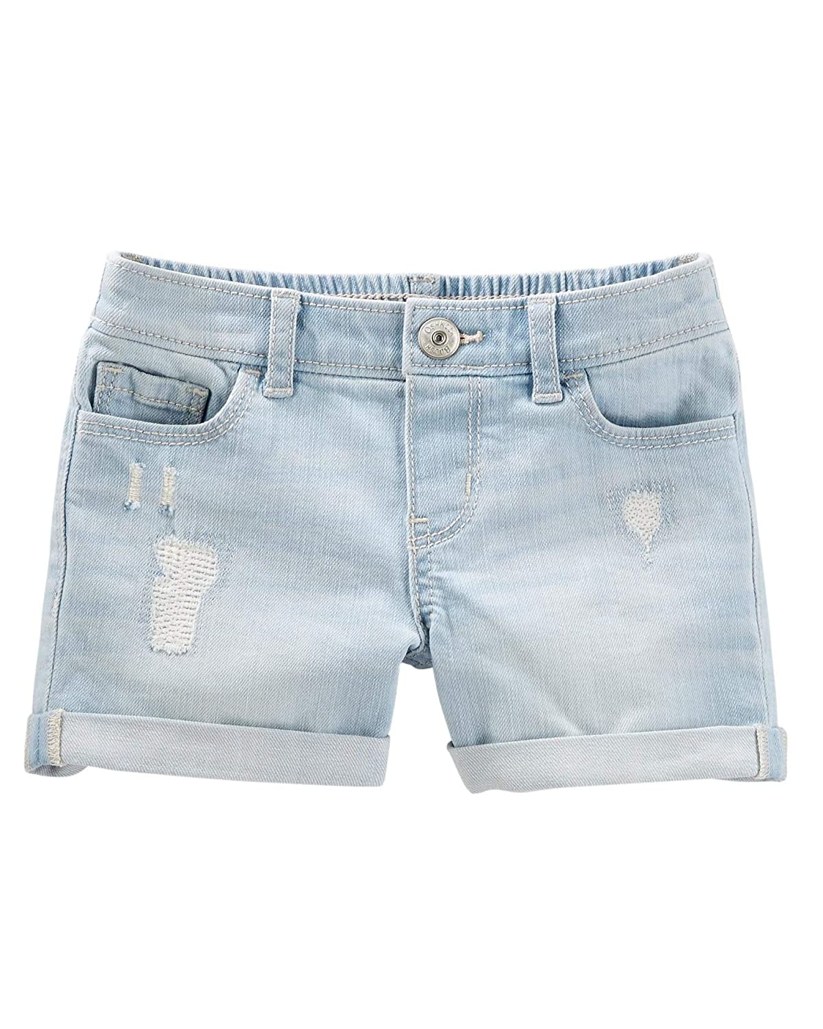 7 Kids OshKosh BGosh Little Girls Stretch Denim Shorts Blue Ice Wash