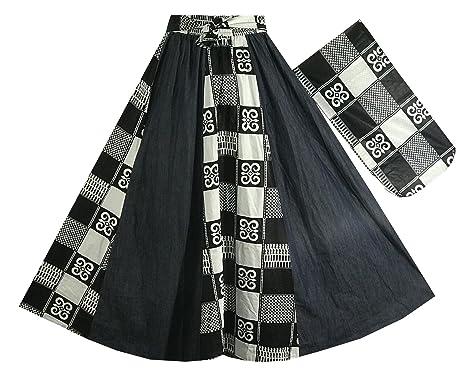 f95606e88 Decoraapparel Long Denim Dashiki Wax Skirts High Waist Maxi Ankara Print  Jeans Plus Size Skirts (
