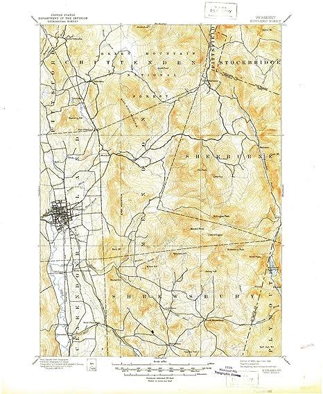 Amazon.com: YellowMaps Rutland VT topo map, 1:62500 scale, 15 X 15 ...