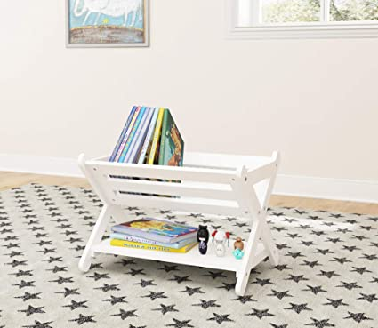 Superbe Amazon.com: UTEX Kidsu0027 Book Caddy With Shelf, Kids Bookcase Storage With  Shelf, Kids Book Storage Organizer For Toddlers, Kids, White (White):  Kitchen U0026 ...
