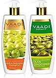 Vaadi Herbals Amla Shikakai Hair fall and Damage Control Shampoo, 350ml with Olive Conditioner, 350ml