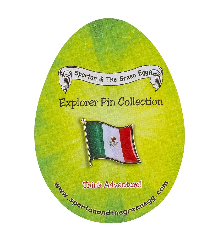 Spartan and the Green Egg Explorer Flag Pin Mexico Flag