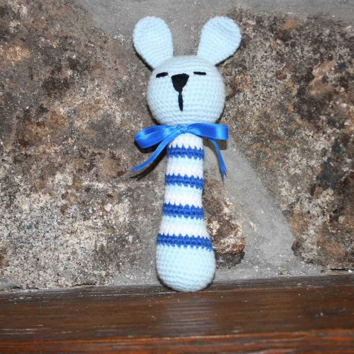 Sonajero conejo hecho a mano en ganchillo- AMIGURUMI: Amazon.es: Handmade